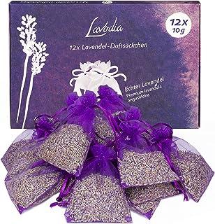 LAVODIA Lavendelpåsar med Torkad Lavendel Doftpåsar Malskydd för Garderoben Paket med 12x10g