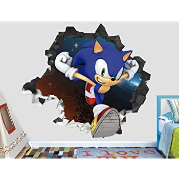 Amazon Com Sonic Force Adventure Wall Decal Sticker Kids Wall Decal Decor Art 3d Vinyl Wall Decal Ah121 Small Wide 22 X 16 Height Home Kitchen