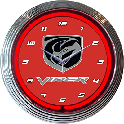 """Neonetics 8CAMRWB GM Camaro Red White Blue Neon Clock 15/"""" Diameter MAN CAVE NEW"""