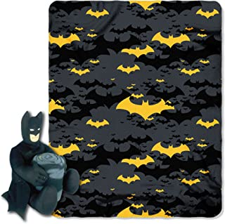 "DC Comics Batman, ""Black Knight"" Hugger and Fleece Throw Blanket Set, 40"" x 50"", Multi Color"