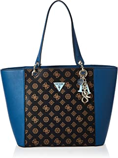 Guess Womens Tote Bag, Brown/Blue - SE669123