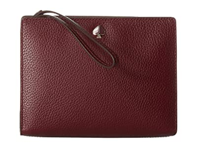 Kate Spade New York Medium Wristlet (Cherrywood) Clutch Handbags