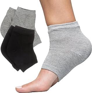 Sponsored Ad - ZenToes Moisturizing Heel Socks 2 Pairs Gel Lined Toeless Spa Socks to Heal and Treat Dry, Cracked Heels Wh...