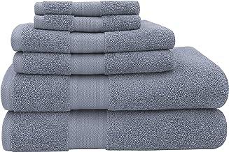 Baltic Linen Endure Luxury Super Soft 6-Piece Bath Towel Set: (Smoke Blue, 2 Bath Towels, 2 Hand Towels, 2 Washcloths)