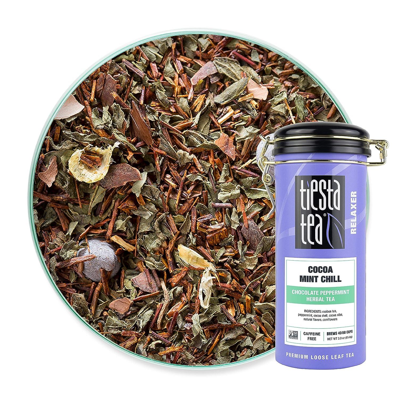 Tiesta Tea - Cocoa Mint Chill, Loose Leaf Chocolate Peppermint Herbal Tea, No Caffeine, Hot & Iced Tea, 3 oz Tin - 50 Cups, Natural Flavors, Stress Relief, Herbal Tea Loose Leaf