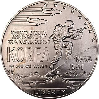 1991 D Korean War Memorial BU Silver Dollar $1 Brilliant Uncirculated US Mint