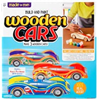 Made By Me Build & Paint Your Own Wooden Cars (Multicolor)