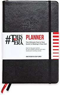 A5 Daily Planner & Journal: Durable Smart Goal System Tracker with Inspirational Quotes, Weekly & Monthly Goal Planners, 90 Day Time Management Journals & Diary Notebook (1 Pack, Black)