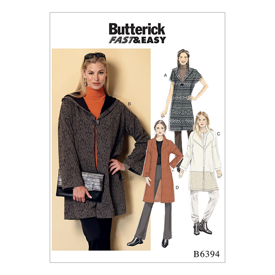 Butterick Patterns B63940Y0 Misses' Shawl Collar Coats Y (XSM-SML-MED)