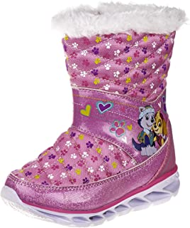 Josmo Paw Patrol Girl's Snow Boots with Easy Straps Closure (Toddler, Little Kid)