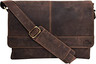 Genuine Leather Messenger Bag for Men and Women - 14 inch Laptop Bag for College Work Office by LEVOGUE