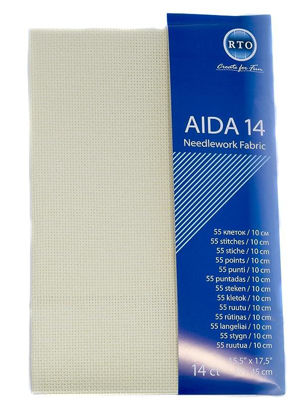 RTO Aida 14 Count Cream 39cm x 45cm, 100% Cotton, 4x17x1 cm