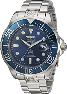 Invicta Men's Pro Diver Automatic-self-Wind Diving Watch with Stainless-Steel Strap, Silver, 10 (Model: 16036)