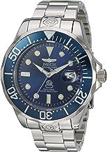 ساعة انفيكتا للرجال برو دايفر أوتوماتيك ذاتي ويند مع حزام ستانلس ستيل، فضي، 10 (16036)