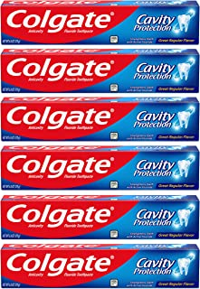 Colgate Cavity Protection Toothpaste with Fluoride - 6 Ounce (Pack of 6)