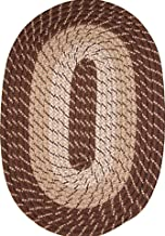 "product image for Plymouth 30"" x 50"" Braided Rug in Brown Made in USA"