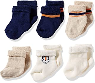 Gerber Baby Boys' 6-Pair Wiggle Proof Sock, Happy Tiger, 3-6 Months