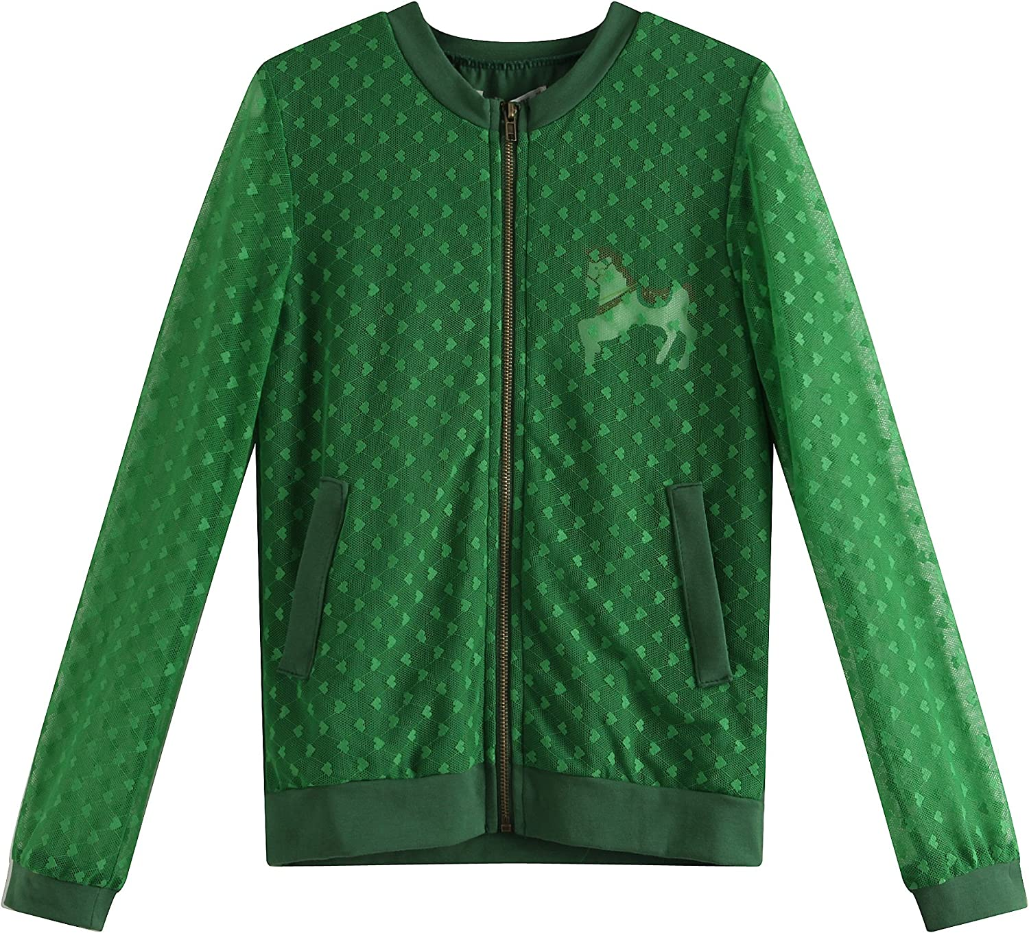 Richie House Girls' Leisure Coat with Lace Size 2-8 RH1868