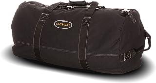 "Ledmark Heavyweight Cotton Canvas Outback Duffle Bag, Giant 48"" x 20"", Black"