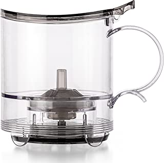 Tealyra - leafTEA MAKER - 18.5-ounce - Loose Tea Teapot With Removable Infuser - Best Tea Maker For Perfect Cup of Leaf Tea - Bottom Dispensing - Dripping Free Guarantee - 550ml