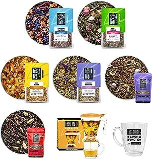 Tiesta Tea, Ultimate Live Loose Kit - Assorted Loose Tea , 6 Teas, Tea Infuser and Mug, Fruit Tea, Green Tea, Chamomile Te...