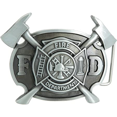 FD Classic Fire Department Bronze Plated Metal Belt Buckle