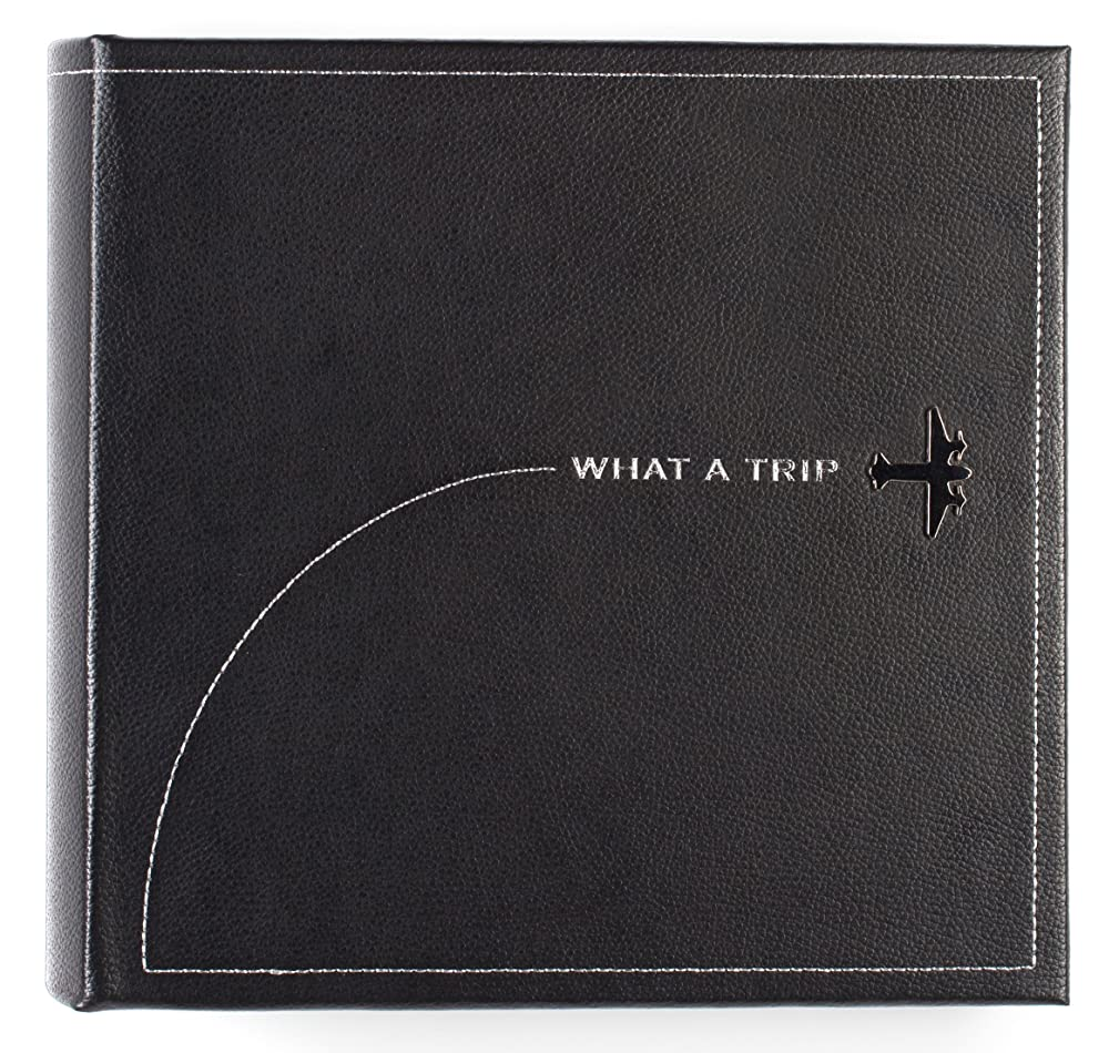 Pinnacle Frames and Accents What A Trip Embossed Faux Leather Photo Album