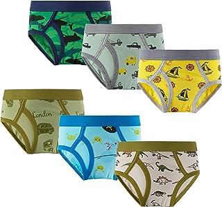 Evercute Boys Boxer Briefs Cotton Underwear Trunk Shorts Undies Toddler Little Kids