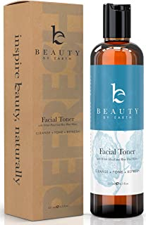 Witch Hazel Face Toner - Organic Rose Water Facial Toner for Women With Hydrating Aloe Vera, Rosewater Toner for Face, Skin Toner pH Balancing Natural Skin Care Products, Beauty Products for Women
