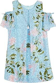 Amy Byer Girls' Big Cold Shouldeer A-line Dress