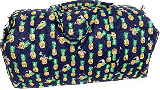 Vera Bradley Large Traveler Duffel Pineapple Quilted Cotton