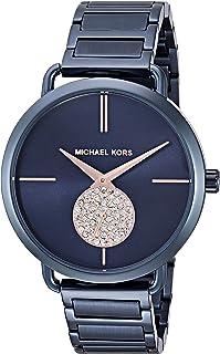Michael Kors Women's Quartz Stainless Steel Casual Watch, Color:Blue (Model: MK3680)