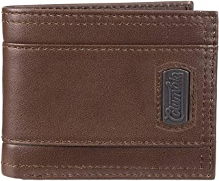 Columbia Men's Leather Traveler Wallet, Brown Plaque, One Size