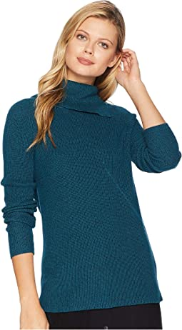 Marled Split-Neck Sweater