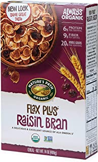 Nature's Path Flax Plus Raisin Bran Cereal, Healthy, Organic, 14 Ounce (Pack of 12)