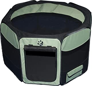 Pet Gear Travel Lite Portable Play Pen/Soft Crate with Removable Shade Top for Dogs/Cats/Rabbits, Easy-Fold + Built-in Sta...
