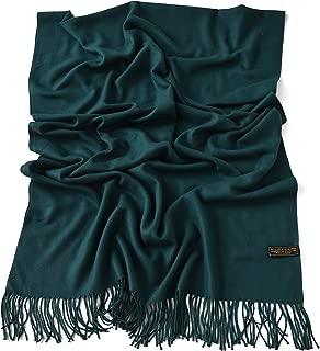 CJ Apparel 厚实纯色设计棉混纺披肩围巾披肩围巾披肩围巾 全新