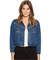 The Kooples - Seventies Denim Jacket Chest Pockets Studs Detail