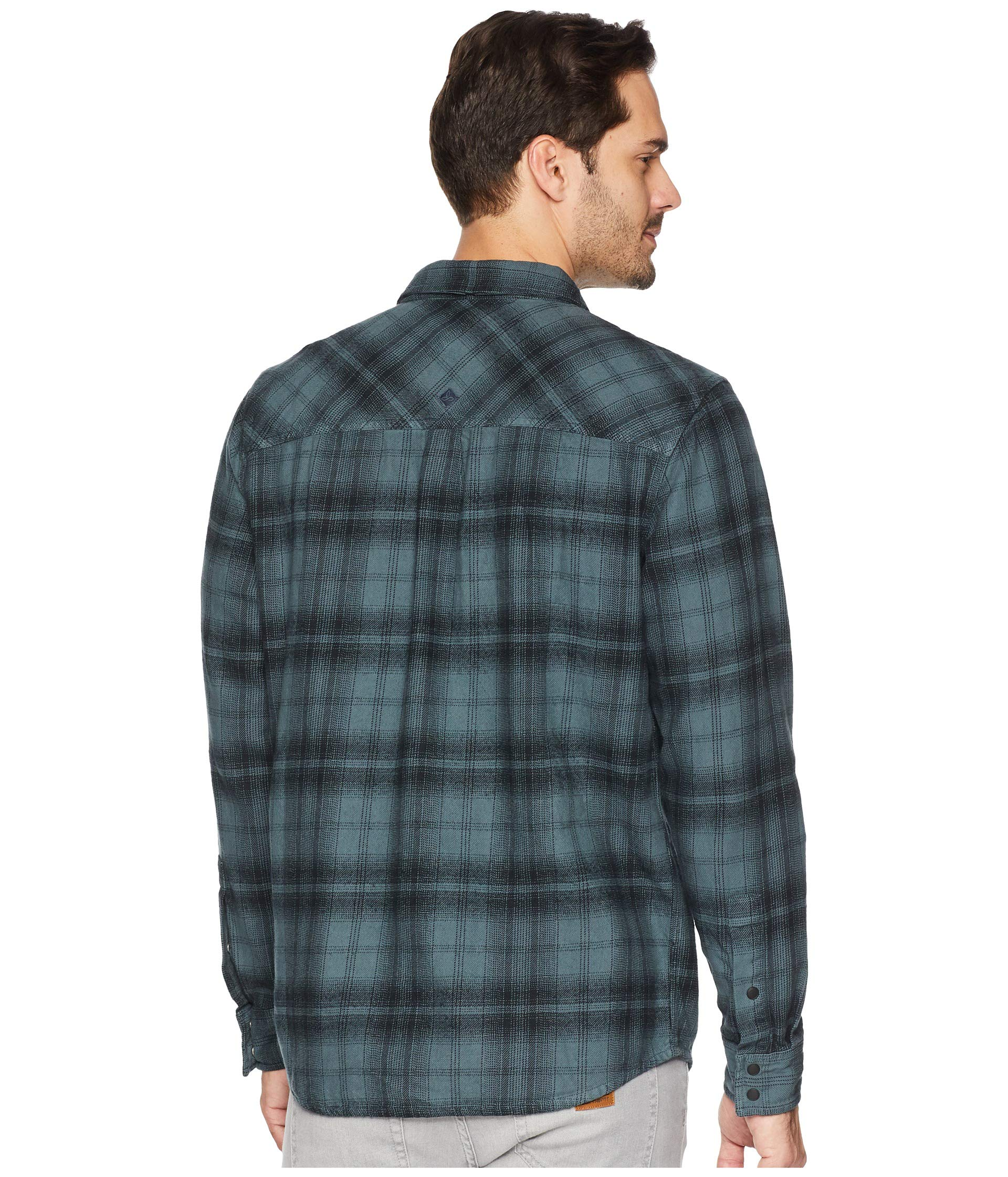 Weathered Long Horizon Blue Flannel Sleeve Prana Shirt fPCx6qww