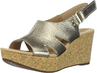 3c80e6f5a76e Amazon.com  Gold - Platforms   Wedges   Sandals  Clothing