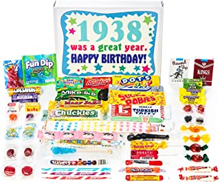 Woodstock Candy ~ 1938 81st Birthday Gift Box Vintage Retro Candy Assortment from Childhood for 81 Year Old Man or Woman Born 1938
