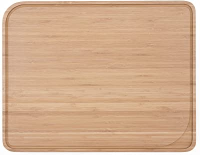 pebbly ペブリー 滑り止め 溝付き カッティングボード 竹製 37 x 29 cm ナチュラル NBA036