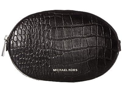 MICHAEL Michael Kors Croc Jelly Bean Belt Bag (Black/Polished Nickel) Women