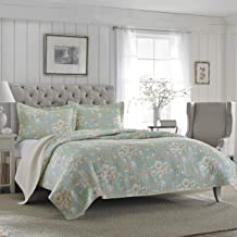 Laura Ashley Brompton Serene Reversible Quilt Twin Green 206342
