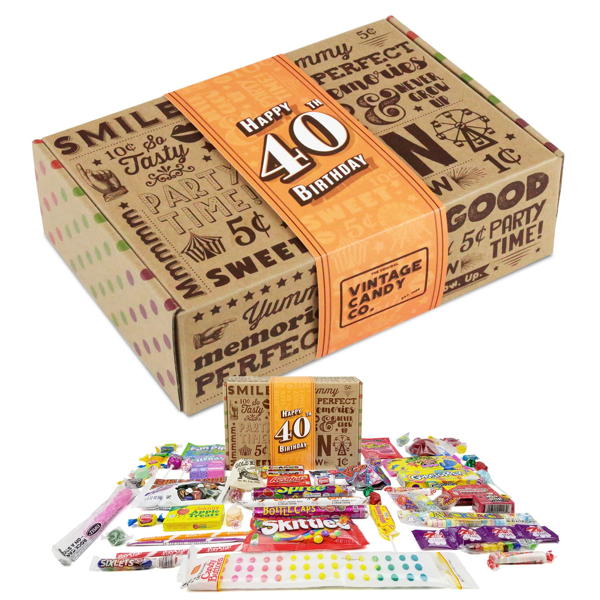 40TH BIRTHDAY RETRO CANDY GIFT BOX - 1979 Decade Childhood Nostalgic Candies  sc 1 st  Amazon.com & Gifts for 40 Year Old Man: Amazon.com