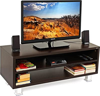 """BLUEWUD Leo Engineered Wood TV Entertainment Unit Cabinet with Storage for Living Room -Ideal for Upto 42"""" Tv (Wenge Finish)"""