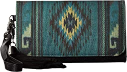 Blue Serape Clutch Wallet
