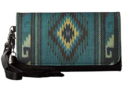 M&F Western Blue Serape Clutch Wallet (Blue) Clutch Handbags