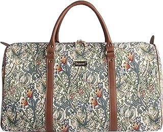 Signare Gobelin-Gepäcktasche für Reisen und Sport/große Reisetasche für Damen Sporttasche Damen mit William Morris Designs Goldene Lilie
