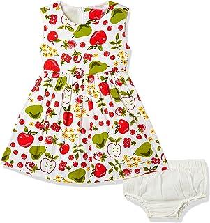 nauti nati Baby Girls' A-Line Cotton Knee-Long Dress